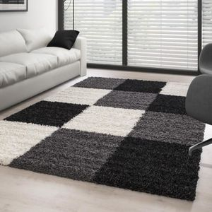 tapis gris et blanc achat vente tapis gris et blanc. Black Bedroom Furniture Sets. Home Design Ideas