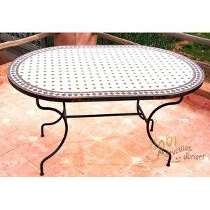 Table Marocaine Ovale 180 x 90 cm en Fer Forgé … - Achat ...