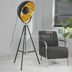 LAMPADAIRE Lampadaire design noir trépied BUZZ L 70 x P 70 x
