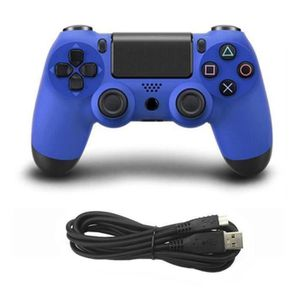 MANETTE JEUX VIDÉO Manette de jeu pour manette filaire PS4; blue L197