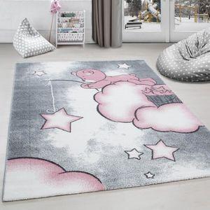 Tapis Enfant Chambre De Bébé Licorne Design Gris Bleu Blanc ...