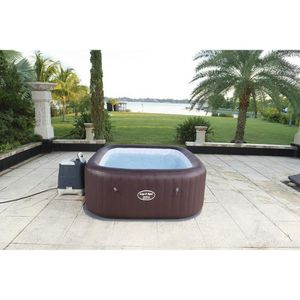 SPA COMPLET - KIT SPA BESTWAY Spa carré gonflable Maldives Hydrojet Pro