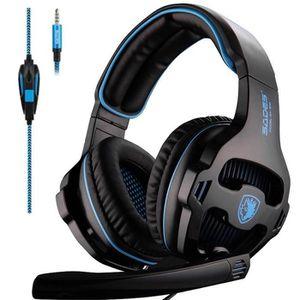CASQUE AVEC MICROPHONE USB Casque Gaming Gamer Headset avec Contrôle de V