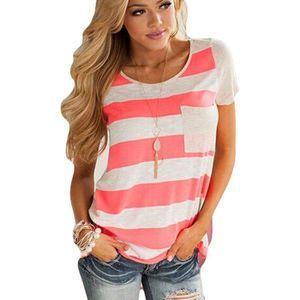 T-SHIRT T Shirt Femme de mode T-shirt à col rond T-shirt r