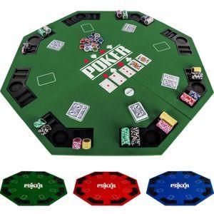 MALETTE POKER Plateau de poker pliable, 122 cm, vert Noir