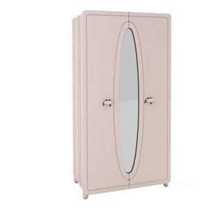 armoire penderie 2 portes avec miroir achat vente. Black Bedroom Furniture Sets. Home Design Ideas