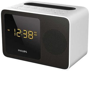 Radio réveil PHILIPS AJT5300W - Radio-réveil Bluetooth 2.1 - Tu