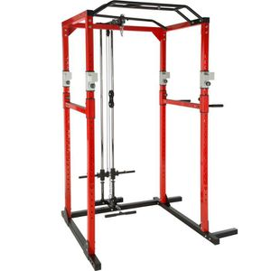 APPAREIL CHARGE GUIDÉE TECTAKE Cage de Musculation Traction Squats Barres