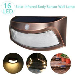 LAMPE DE JARDIN  TEMPSA PIR Solaire Applique Lampe de Jardin Mural
