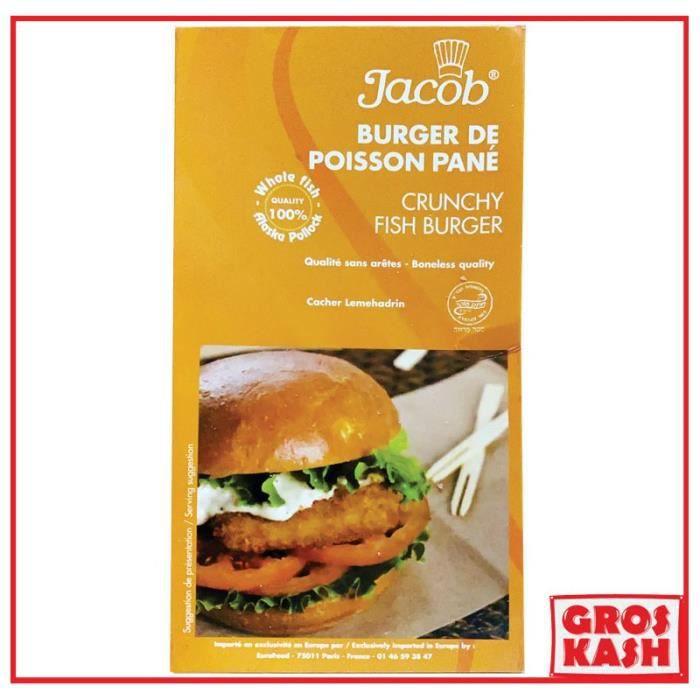 Burger de Poisson Pané Casher -Jacob- 500g IQF