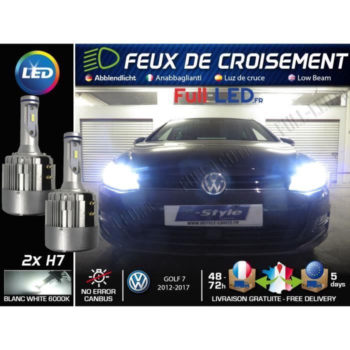 Ampoules LED H7 - Spécial Volkswagen Golf 7 - Feux de croisement