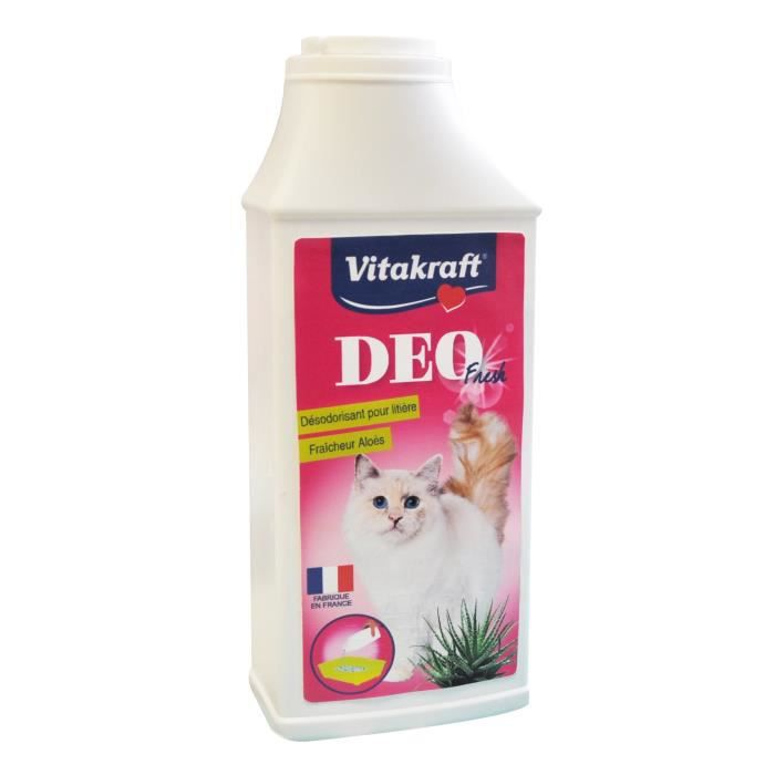 VITAKRAFT Désodorisant pour litière aloès Fresh - 375 g - Pour chat