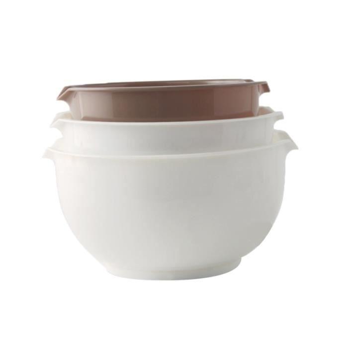1 ensemble de bols de mélange bol d'oeufs de farine récipient de lavage de riz de soupe pour le restaurant du marché à PLATE