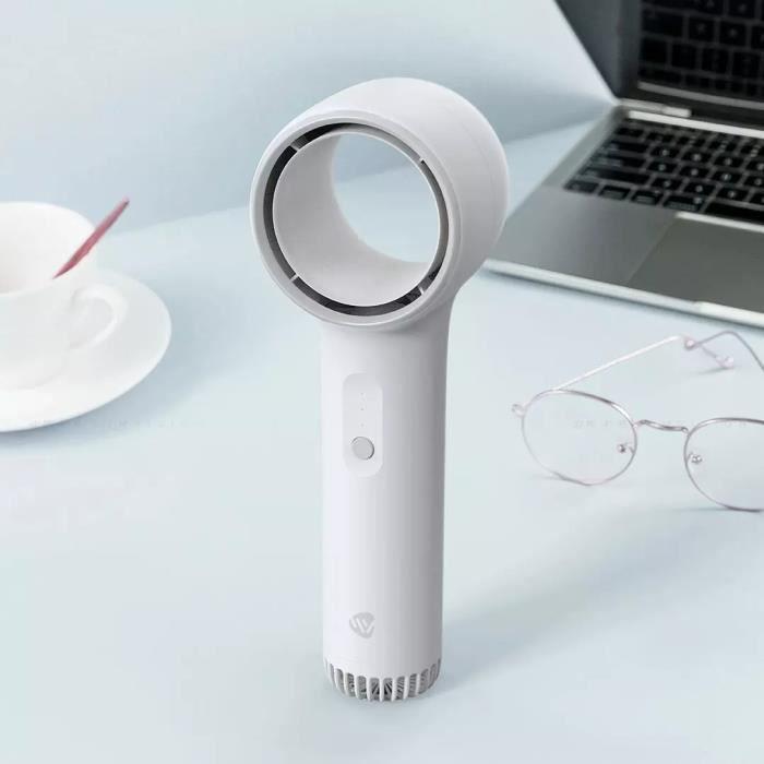 VENTILATEUR,XIAOMI MIJIA Weiyuan Portable poignée Mini ventilateur sans lame pour la maison Rechargeable Portable - WHITE