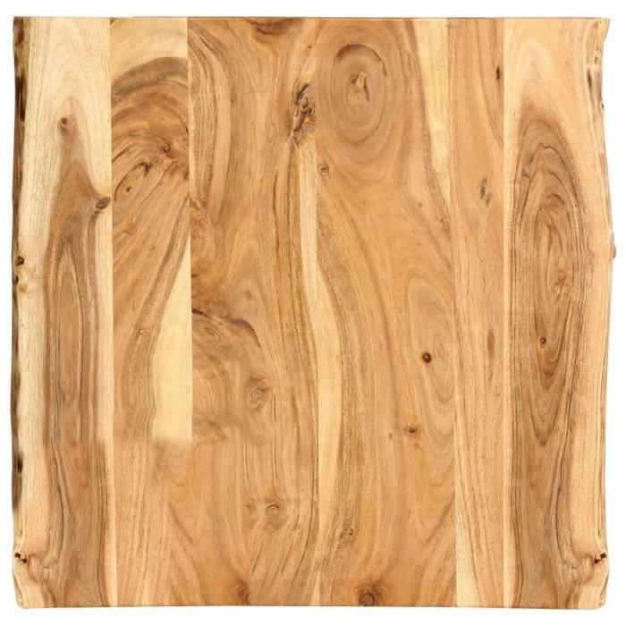 Lustre6525Luxueux Dessus de table Plateau de Table Meuble Contemporain Décor- Plateau Pour Table Bois d'acacia massif 60x60x2,5 cm