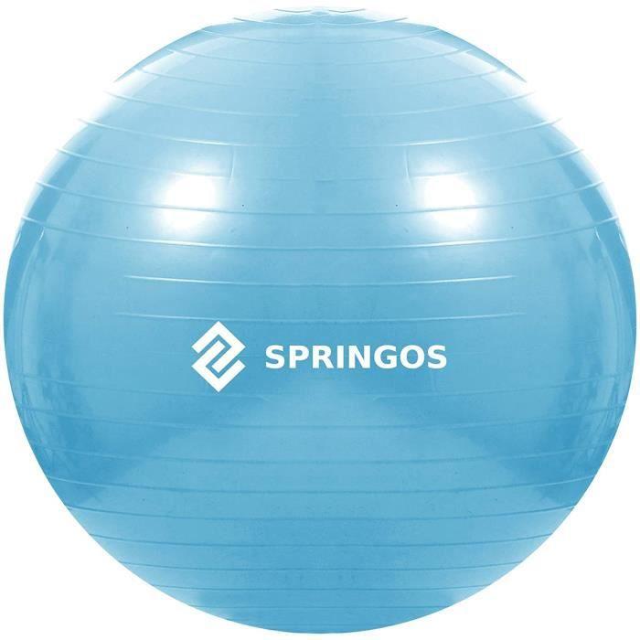 GOS ballon de gymnastique Ballon de gymnastique Ballon de sport Pilates Ball 55 cm BleuBALL 100