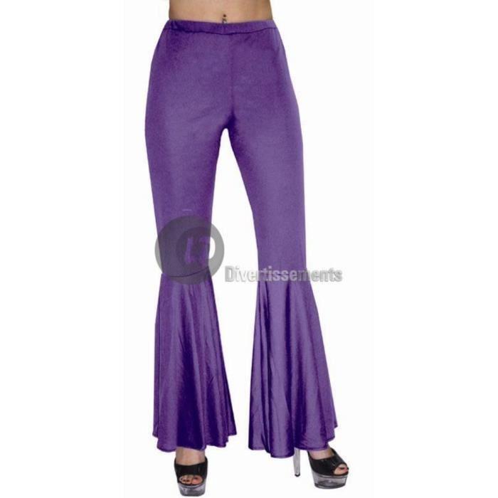Pantalon hippie / disco femme 36/38 violet