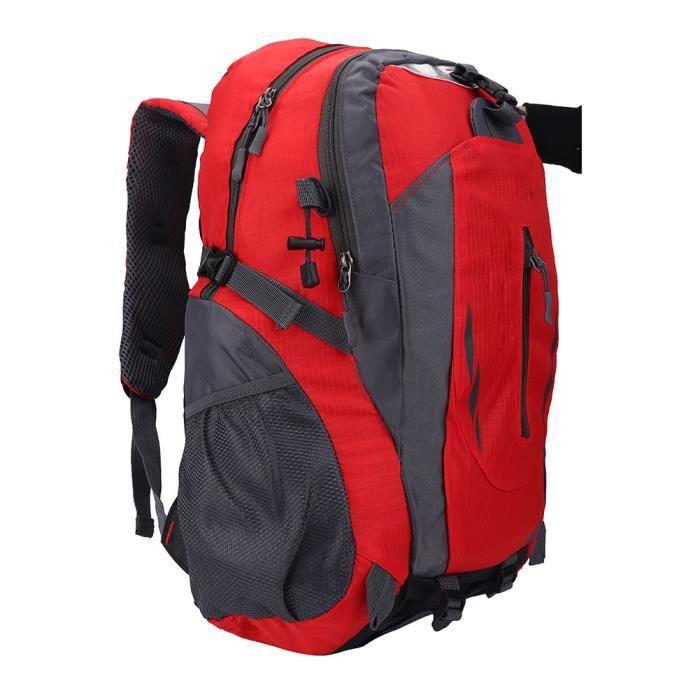 40L sac à bandoulière étanche à dos pour les sports de plein air escalade camping randonnée rouge-CWU
