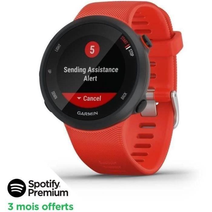 [SPOTIFY PREMIUM - 3 MOIS OFFERTS]Garmin Forerunner® 45 - Montre de course GPS connectée - Large - Rouge