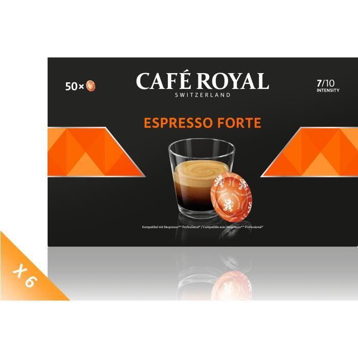 Lot de 6 CAFE ROYAL Compatible Nespresso Professionnel Espr. Forte x50