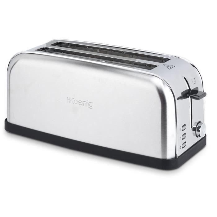H.KOENIG TOS28 - Grille-pain spécial baguette - Inox