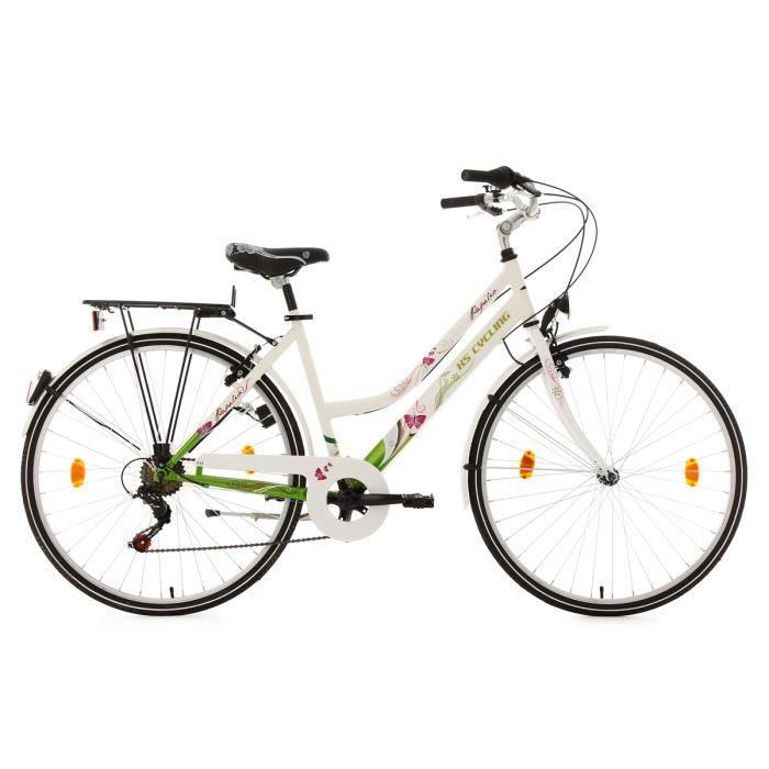 Vélo de ville femme 26'' Papilio blanc TC 44 cm KS Cycling