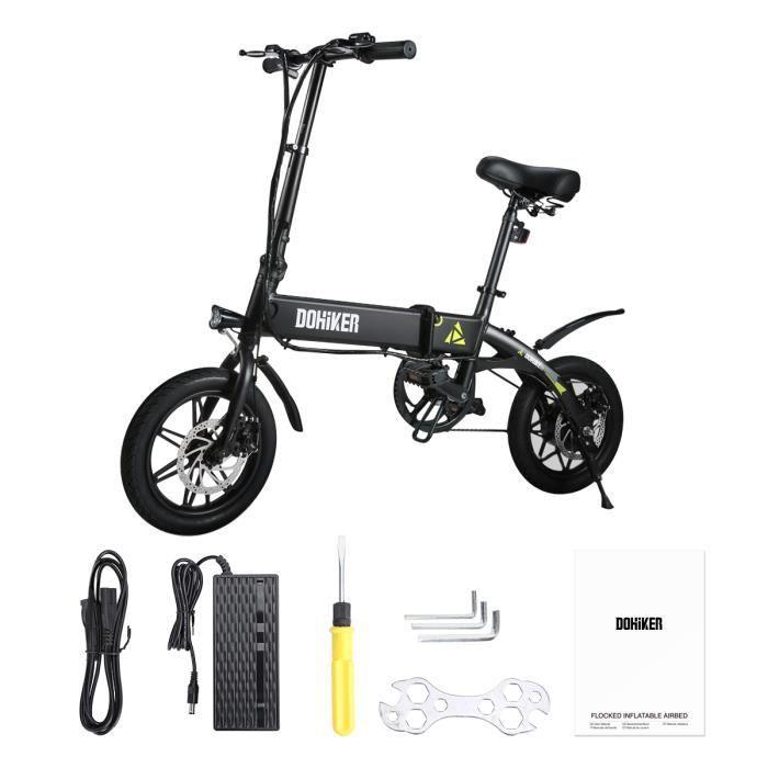 E-Scooter Vélo Assistance Electrique Cyclomoteur Dohiker YINYU14 Vélo électrique Ebike Pliant Adulte - noir