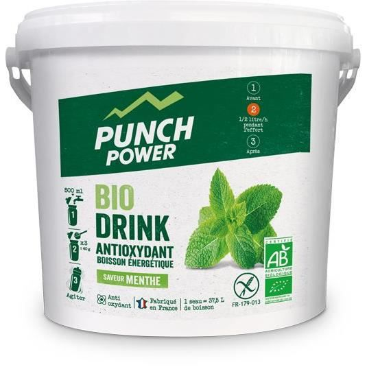 PUNCH POWER Biodrink Menthe antioxydant - Seau 3 kg