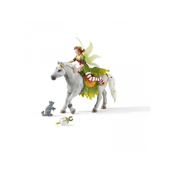 Schleich Figurine 70517 - Bayala Elf Monde des Elves - Marween en habits de cérémonie, à cheval