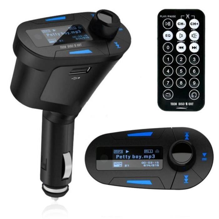 TD® transmetteur FM bluetooth voiture TV jack sans fil optique musique usb adaptateur radio chargeur MP3 mains libres iphone portabl