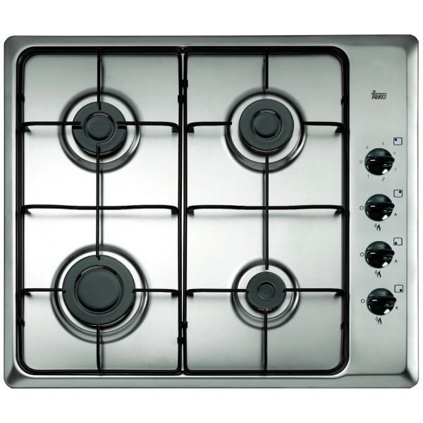 Teka ENCIMERA HLX 60 4G AL, Intégré, Cuisinière à gaz, Acier inoxydable, 1000 W, 1750 W, 1750 W