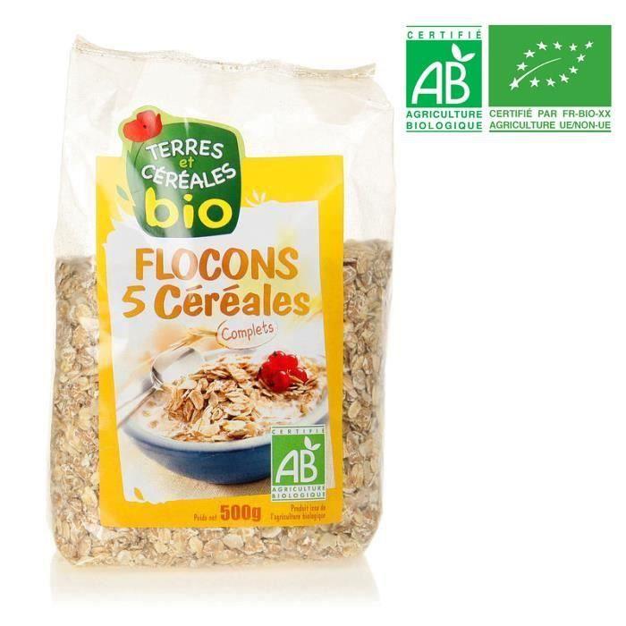 BIOTHENTIC Flocons 5 céréales 500 g