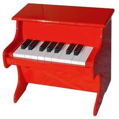 VILAC - Piano rouge 18 touches avec partitions