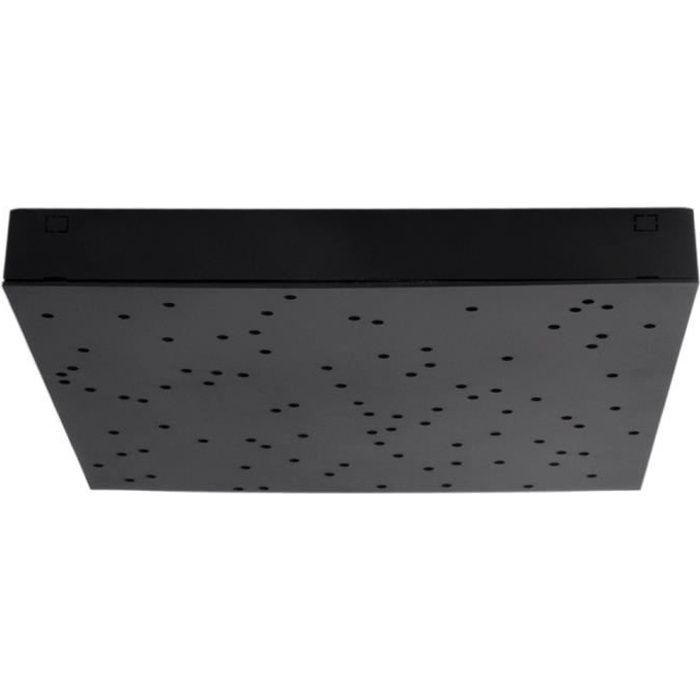 Plafonnier LED, noir, effet ciel étoilé, longueur 30 cm