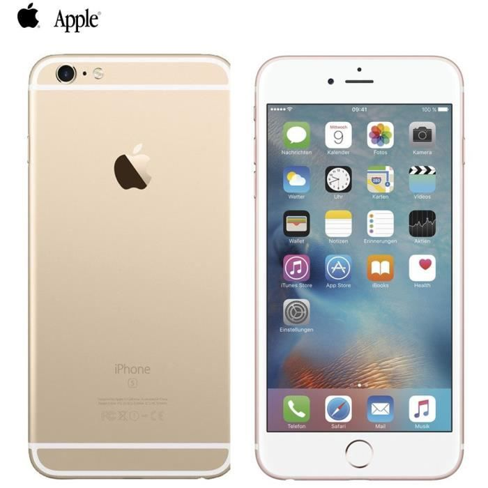 apple iphone 6s plus 128 gb dor jaune achat smartphone. Black Bedroom Furniture Sets. Home Design Ideas