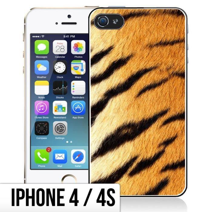 Coque iPhone 4-4S Fourrure - Tigre