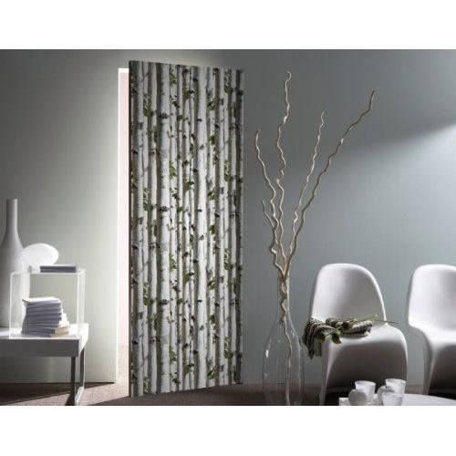 muriva papier peint bouleau argent j21517 ecorce arbre for t gris achat vente papier peint. Black Bedroom Furniture Sets. Home Design Ideas