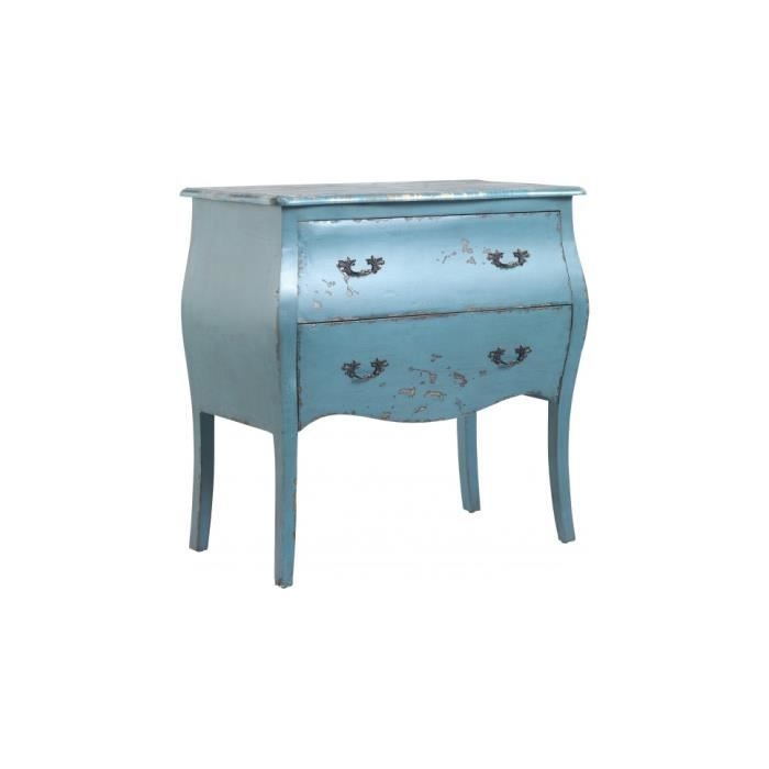 commode galb e peuplier massif bleu patin e antiquaire 2. Black Bedroom Furniture Sets. Home Design Ideas