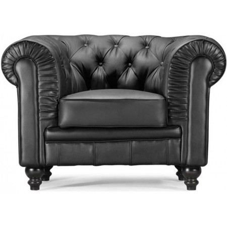 fauteuil chesterfield cuir noir achat vente fauteuil mati re de la structure bois. Black Bedroom Furniture Sets. Home Design Ideas