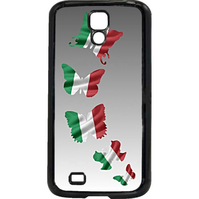 coque samsung galaxy s4 mini drapeau italie italia papillon achat coque bumper pas cher. Black Bedroom Furniture Sets. Home Design Ideas