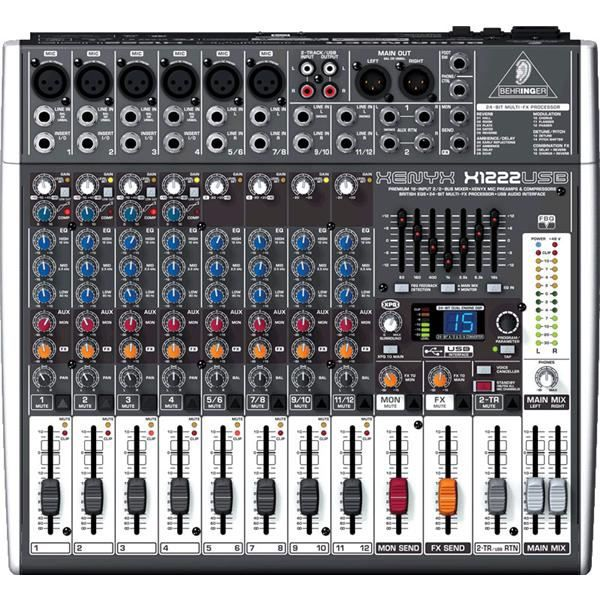 behringer table de mixage et interface x1222usb table de. Black Bedroom Furniture Sets. Home Design Ideas