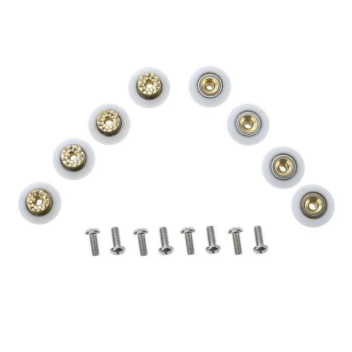 ROUE - ROULETTE 19mm 8x Roulette remplacement pour porte de douche
