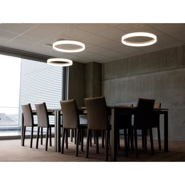 suspension ronde led design achat vente suspension ronde led de aluminium cdiscount. Black Bedroom Furniture Sets. Home Design Ideas