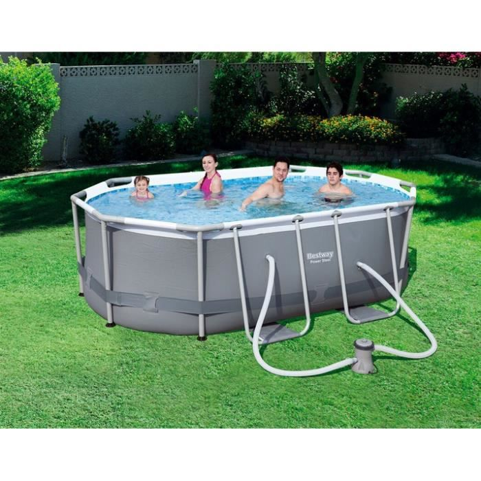 Piscine tubulaire ovale power steel frame pools for Achat piscine tubulaire