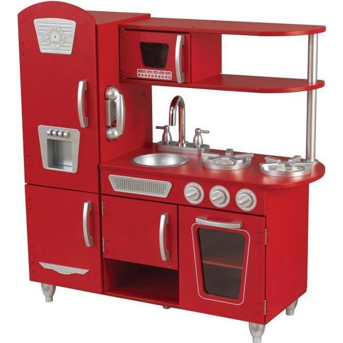 Photo de kidkraft-cuisine-enfant-vintage-rouge-en-bois