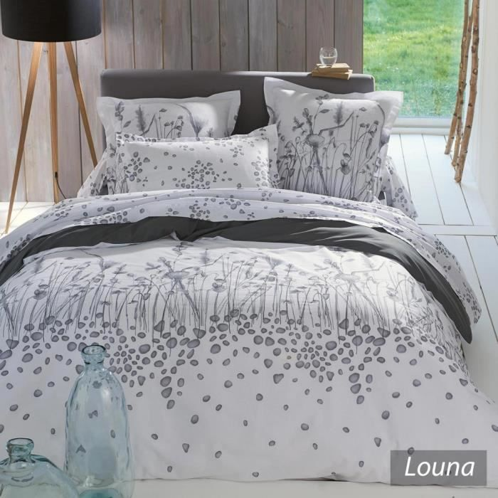 housse de couette 300x240cm 100 coton louna achat vente housse de couett. Black Bedroom Furniture Sets. Home Design Ideas