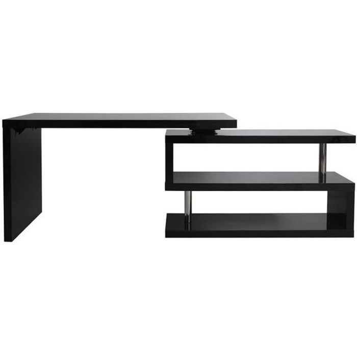 bureau design noir laqu amovible max achat vente bureau bureau noir laqu amovible max. Black Bedroom Furniture Sets. Home Design Ideas