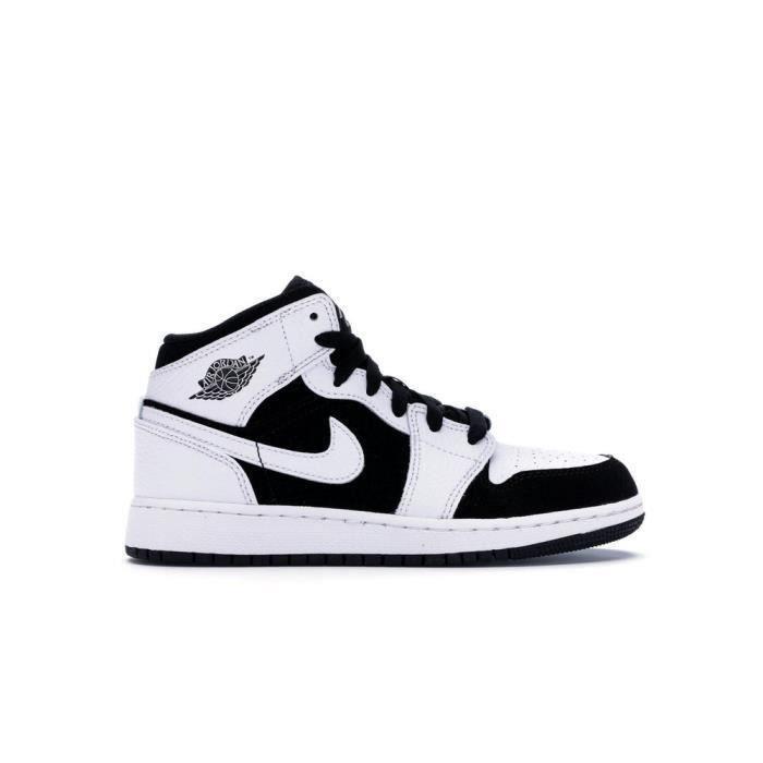 NIKE Air Jordan 1 Mid White Black Basket pour Femme Blanc - Achat ...
