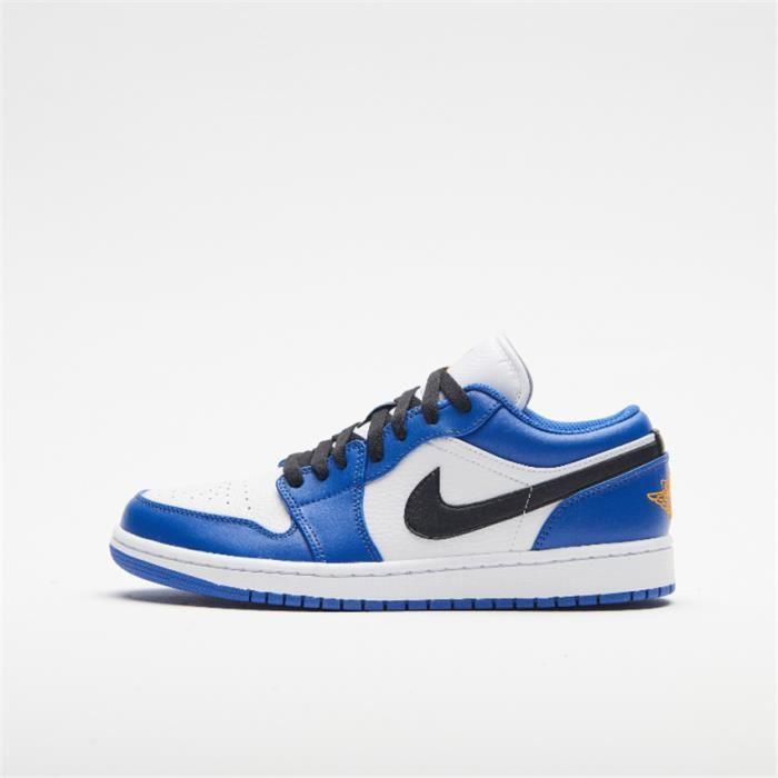 Baskets Air Jordan 1 Low 553558-401 Chaussures de pour Homme Bleu ...