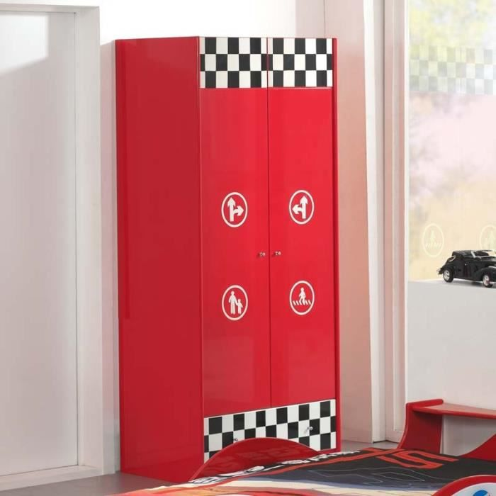 paris prix armoire enfant voiture monza rouge achat. Black Bedroom Furniture Sets. Home Design Ideas